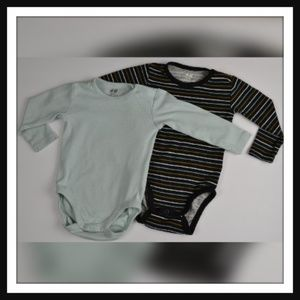 2 H&M Onesies, Long Sleeve, 4-6 Months